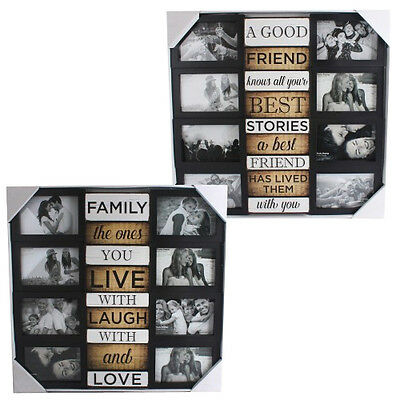 50Cm 8 Photo Picture Frame Collage Family Love Multi Home Gift Hanging Decor New