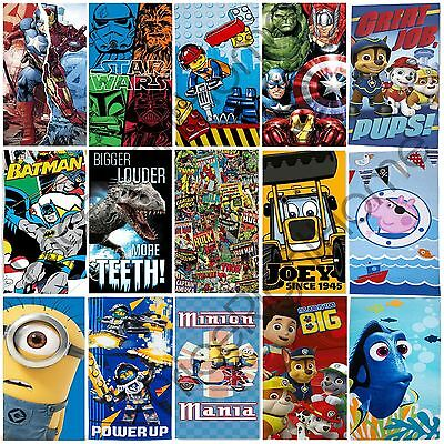 Official Character Beach Towels Boys Avengers Paw Patrol Pokemon 100% Cotton New