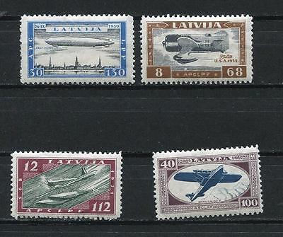 Latvia 1933 Mi 228-1A Sc CB21-24 MH CV$300 Surfax for wounded Aviators l1428s