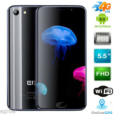 "5.5"" Elephone S7 4G LTE Cellulare Deca Core Android 6.0 Smartphone Telefono 64GB"