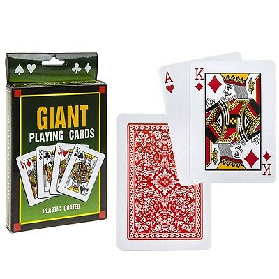"5"" Jumbo Large Giant Pack Playing Cards Portable Game Outdoor Travel Family Deck"