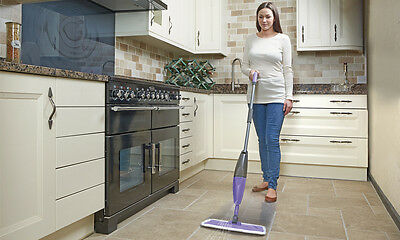 600Ml Spray Mop Water Spraying Floor Cleaner Tiles Microfibre Marble Kitchen