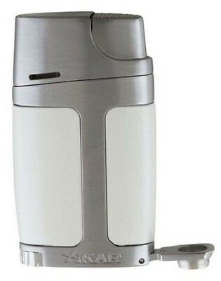 Xikar 550WH ELX Element Double Torch Flame Cigar Lighter - Pearl White - New