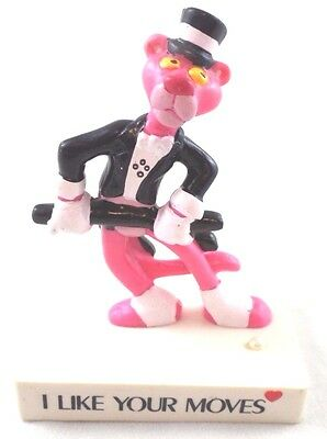 PVC Figure Pink Panther Song & Dance Cat Toy Based 1989 Vintage LIKE MOVES lot