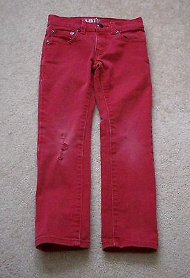 Kid's Levi 's 510 Super Skinny Jeans sz 8 regular Red colored and Distressed