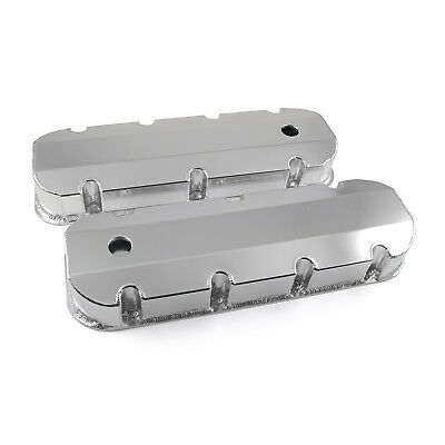 fit Chevy BBC 454 Anodized Fabricated Valve Covers - Tall w/ Hole