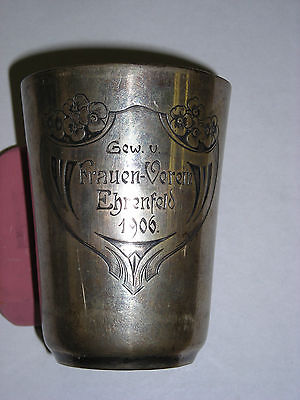 Antique German Hallmarked  Cup Beaker Hand Chased 800 Silver 1805-1973