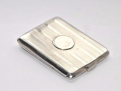 Vintage Art Deco Hm Solid Silver Sterling Matchbook Holder Case Vesta B/ham 1929