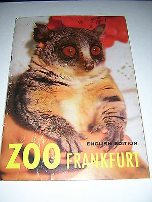 VINTAGE FRANKFORT ZOO BROCHURE Germany, 1964 - in English - great photos