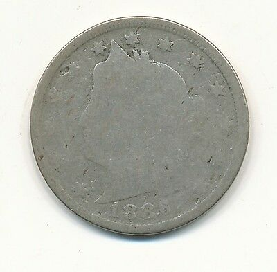 1886 Liberty V Nickel