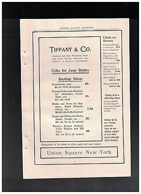Gifts For June Brides - Sterling Silver in 1904 Tiffany & Company Ad