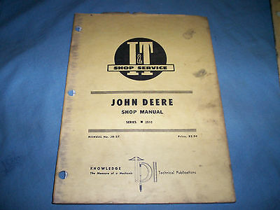 I&T Shop Service Manual John Deere Tractor 2510 No.JD-27
