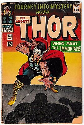 JOURNEY INTO MYSTERY #125 (GD) THE MIGHTY THOR! Jack Kirby Art! Last Issue 1966