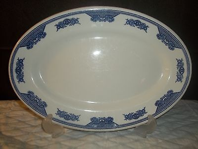 Pair Shenango Restaurant  Ware China Oval Platters Blue Willow Pattern