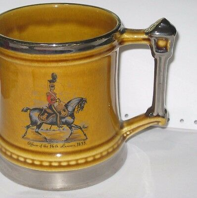 Vintage Old English Beer Tankard Military Princely  England REDUCED