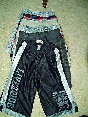 Lot of 6 Boys size 10 Shorts Old Navy, Shaun White, Faded Glory Very NICE!!!