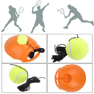 Outdoor Tennis Ball Single Training Practice Drills Convenient Back Base Trainer