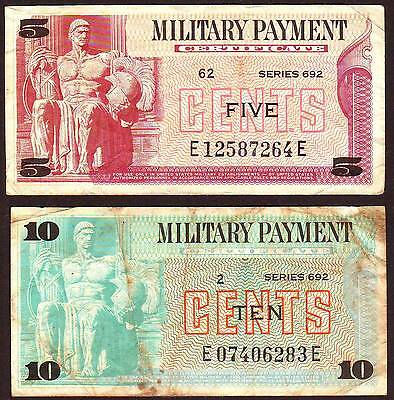 US Military Payment Certificate  5 & 10 Cents  Series 692