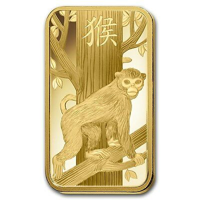 5~GRAM ~ PURE 9999 GOLD ~ YEAR of the MONKEY ~ PAMP  SUISSE ~ SEALED BAR ~ $9.99