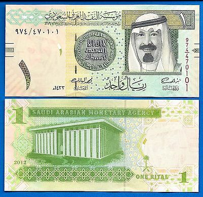 Saudi Arabia 1 Riyal Year 2012 King Abdullah Uncirculated FREE SHIPPING