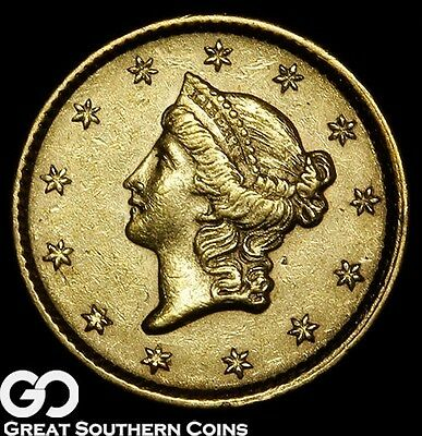1852 Gold Dollar, $1 Liberty, Type 1 ** Free Shipping!