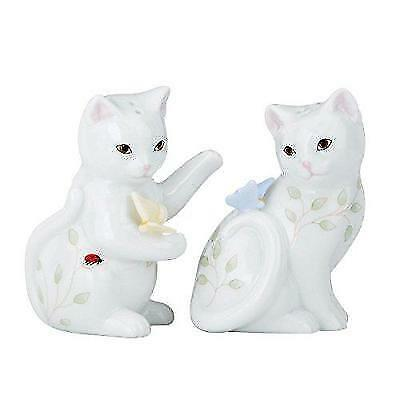 Lenox Butterfly Meadow Figural Kitten Salt and Pepper Set New