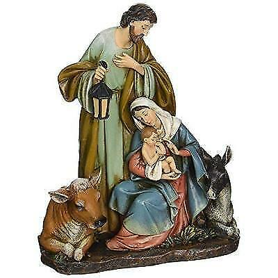 Roman Josephs Studio Slim Profile Holy Family with Barn Animals Figurine,