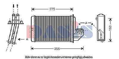 AKS DASIS Heat exchanger, Interior heating 059150N for BMW