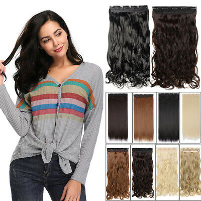 100% Natural Long Thick Clip in Hair Extensions With 1% Remy Human Hair Brown AU
