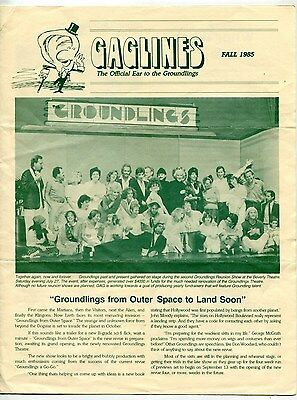 "1979-87 Vintage ""GROUNDLINGS"" Improv Group: 4 Diff Items [Los Angeles]"