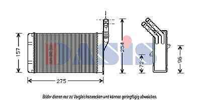AKS DASIS Heat exchanger, Interior heating 069000N For CITROëN - PEUGEOT