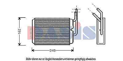AKS DASIS Heat exchanger, Interior heating 189160N for RENAULT