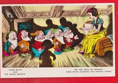 Disney, Snow White & 7 dwarfs, postcard- Oh, You must be Grumpy!