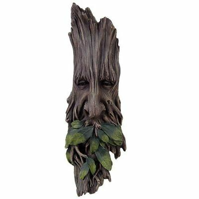"Celtic Wise Spirit of the Woods Greenman Tree Sculpture 15"" Height Figurine"