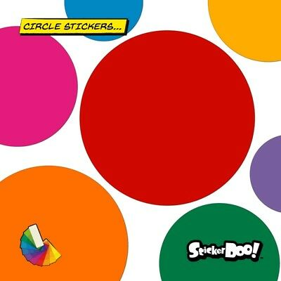 25 Circle Spot Dot Round Stickers Decals Car | Wall | Home - 30 Colours s2