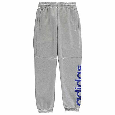 adidas Kids Linear Fleece Trousers Pants Jogging Bottoms Training Junior Boys