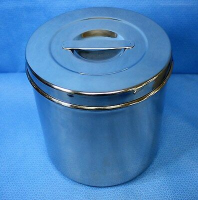 4.5 Qt Stainless Steel Dressing Jar w/ Recessed Lid Military Issue 88040 New