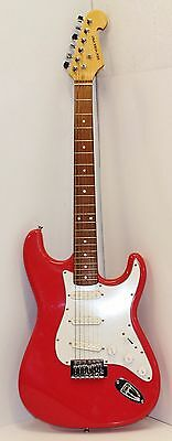 New York Pro Strat-Style Electric Guitar Pink