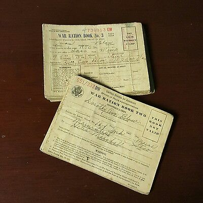 Vintage Collectible History Lot of 15 WW II War Ration Book Two & Three