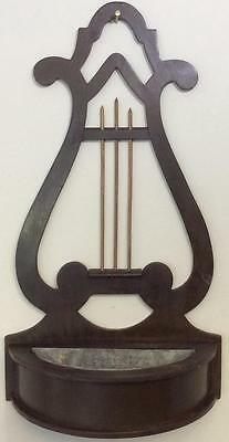Antique Early American Federal Duncan Phyfe Lyre Back wall pocket shelf planter