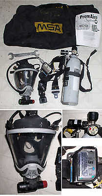 MSA PREMAIRE SYSTEM SUPPLIED-AIR RESPIRATOR w MASK fire rescue tank mask gauge