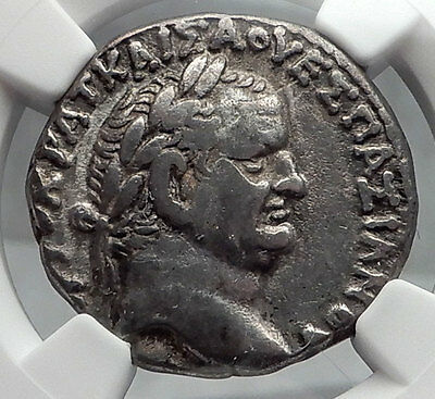 VESPASIAN 69AD Ancient Silver Roman Tetradrachm Coin Antioch Eagle NGC i60112