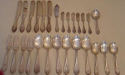 27 Pcs. 1847 Rogers Bros Triple Silverplate OLD COLONY Flatware