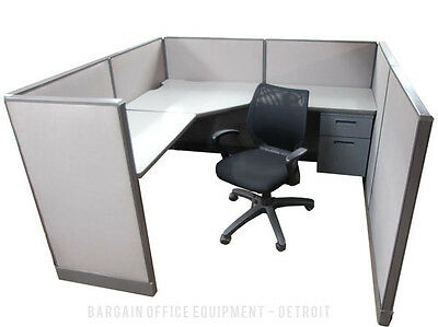 6x6 Herman Miller Low Wall Work Station Office Cubicles with New Paint & Fabric