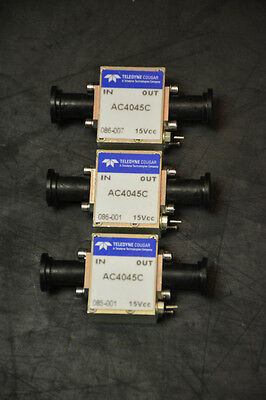 Teledyne Cougar AC4045C Amplifiers (Lot of 3)