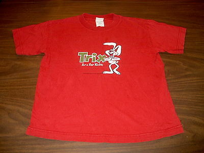 Trix Are For Kids! Solid Red Youth Size M Short Sleeve T-Shirt with Rabbit