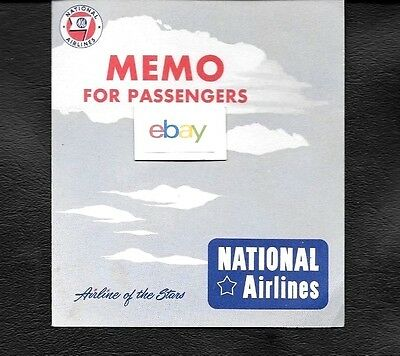 National Airlines 1950 Flight Information Brochure Dc-6 To New Orleans The Star