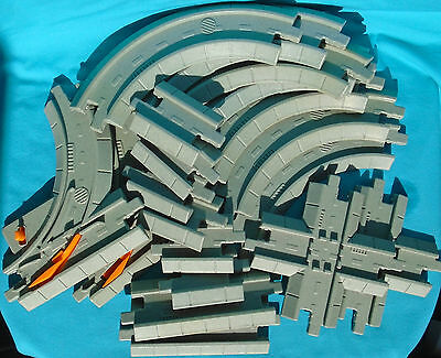 Fisher-Price GeoTrax Light Gray Road-Style Track Sections with 2 switches
