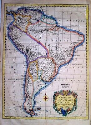 1757 Fine Large Bellin Map of  South America