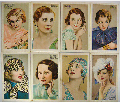 8 different Park Drive Cigarette Cards - Champions of Screen & Stage